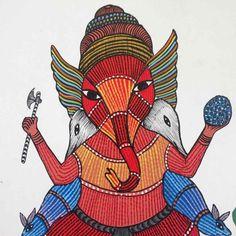Ganesha Gond Painting