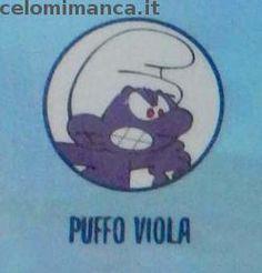 LIDL - STIKEEZ I PUFFI Viaggio nella Foresta Segreta: Retro Figurina n. 23 Puffo Viola