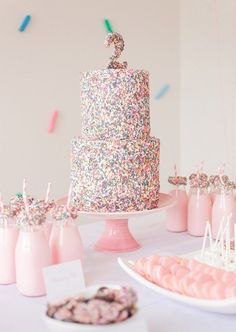 confetti girl's birthday party