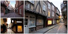 Located in the heart of the city of York, England, the Shambles is an old medieval street, often called Europe's best preserved, with overhanging timber-fr