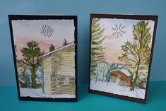 Vaateviidakko: Joulukortteja Handmade Christmas Decorations, Diy Christmas, Diy Cards, Painting, Art, Art Background, Homemade Cards, Painting Art, Kunst