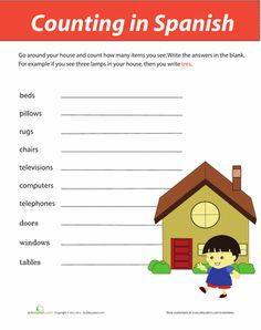 Worksheets: Counting in Spanish