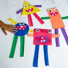 shapes craft monster learn about shapes Halloween Masks, Halloween Kids, Halloween Themes, Shape Crafts, Crafts To Make, Crafts For Kids, Monster Shapes, Printable Shapes, Letter Crafts