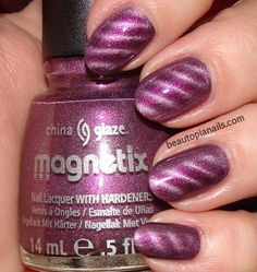 Magnetic nail polish. Might need to try this!
