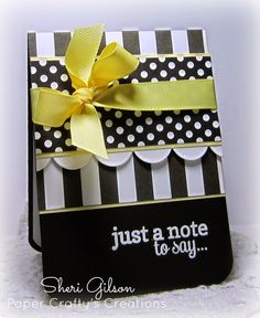 Card by Sheri Gilson. Reverse Confetti stamp set: Lots to Say. Any occasion card. Friendship card. Black & White card. Encouragement card.