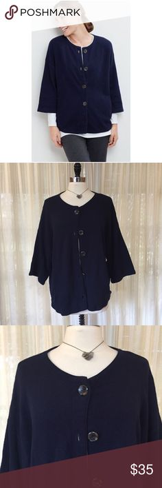 20% Off! 💟J. Jill Pure Jill textured kimono cardi Size Medium. Textured kimono cardigan sweater. Button front. Side pockets. 3/4 sleeves. 100% cotton. EUC  💟Fast 1-2 day shipping 💟Reasonable offers accepted 💟Purchase 3 or more items & get a special bundle rate!  💟Smoke-free home J. Jill Sweaters Cardigans