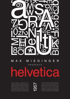 max miedinger typography - Google Search