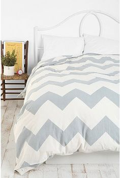 UrbanOutfitters.com > Zigzag Duvet Cover, for our bed with a unique rug, to give it a pottery barn, urban outfitters fusion