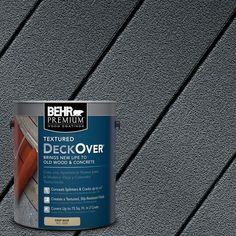 Painted Wood Deck, Wood Deck Stain, Deck Stain Colors, Deck Colors, Behr Deck Over Colors, Paint Colors, Behr Deck Paint, Deck Over Paint, Porch Paint