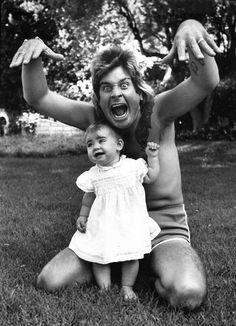 Ozzy Osbourne with his daughter Aimee Osbourne | Rare and beautiful celebrity photos