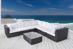 As far as the patio seating sets go, the Outdoor Lounge Set RIVA is the deepest most comfortable and is the best you can get. Outdoor Lounge, Outdoor Living, Outdoor Decor, Modular Design, Modern Design, Restaurant Patio, Wicker Patio Furniture, Patio Seating, Living Spaces