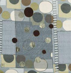 No Beginning No End (pair) - Textile art, original wall art, mixed media collage, abstract art, charcoal, green, copper, silver