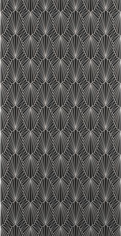 Cabaret Wallpaper Onyx 862 by Catherine Martin by Mokum