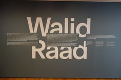 Walid Raad @MoMA - Collector Daily Museum Exhibition Design, Exhibition Room, Exhibition Display, Environmental Graphics, Environmental Design, Text Design, Wall Design, St Michael's Mount, Installation Architecture