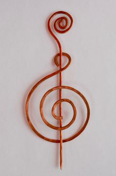 Hand-crafted spiral Celtic cloak pin- in a G or Treble Clef style, a must for a musician, or for a fan of music!  Made of recycled copper. Also, serviceable as a unique and elegant hairpin, perfect for a back-bun!  Every item is custom made for every unique order.  *As with all handcrafted items, some variability is to be expected.  *No tax except for in New York state, add 8%