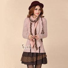 Buy 'Kaven Dream � Ruffle-Hem A-Line Knit Dress With Scarf' with Free International Shipping at YesStyle.com. Browse and shop for thousands of Asian fashion items from China and more!