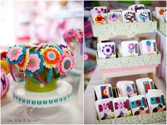Great way to display clips and headbands! You could easily make a head band display out of a soup can decorated cute!