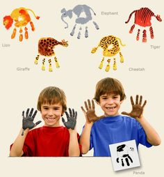 Handimals cheetah handprint craft