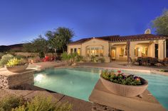 Patio and pool.  Grayhawk, Scottsdale Arizona