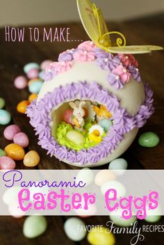 How to Make Panoramic Easter Eggs | Favorite Family Recipes. While they're not edible, they are oh so cute! #Easter #rubylanefoodie