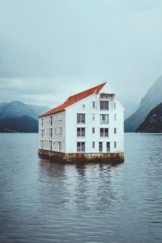A floating house in Norway.