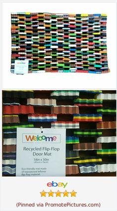Flip Flop Door Mat Rug Welcome Doorway 18 X 30 Repurposed Recycled Eco Friendly