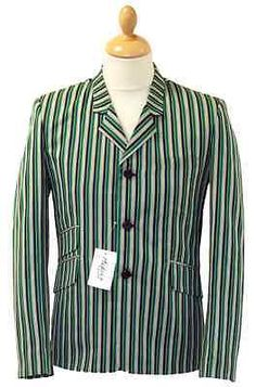 New #retro #indie mod sixties stripe striped boating blazer jacket vintage #sale!,  View more on the LINK: http://www.zeppy.io/product/gb/2/370604225896/