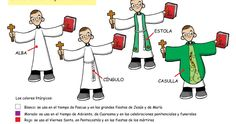 Vestimenta litúrgica del sacerdote. Alba : Es una túnica blanca que cubre todo el cuerpo hasta los pies. La usa el sacerdote en todas las...