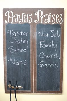 Prayers and Praises Chalkboard - verse of week - scripture board - sunday school - homeschool