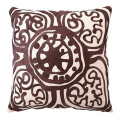 Cocoa embroidered pillow
