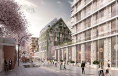 Kjellander + Sjöberg Architects - Living on the Wedge - Shared space