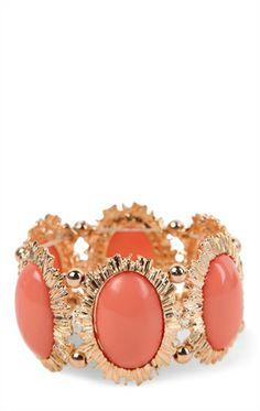 Stretch Bracelet with Large Oval Stones
