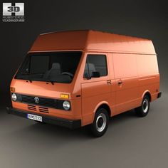 Volkswagen LT Panel Van 1975 3d model from humster3d.com. Price: $75