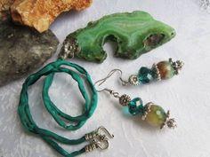 Agata Set Turquoise Bracelet, Drop Earrings, Crafty, Drop Earring