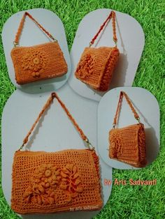 Relief Crochet Purse