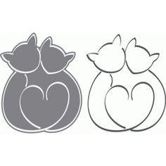 Silhouette Design Store - View Design #64486: cat love