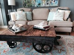 "Hometalk :: Factory Cart Coffee Table--good ""how to"" included--found on hometalk.com"