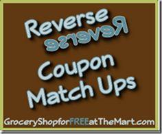 3/6 Reverse Coupon Matchups!