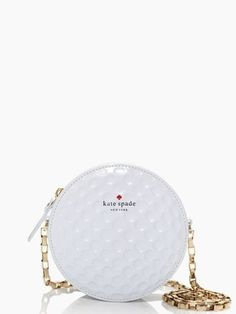 kate spade golf ball clutch, really don't go in for expensive brand name purses, but this is really cute!