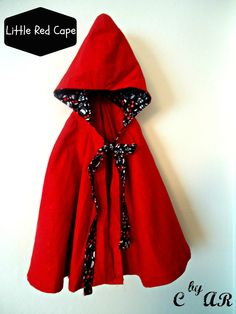 Creations by Alisha Rose: Little Red Riding Hood - The Cape