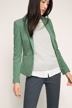Esprit / Stretch Piqué Jersey Blazer