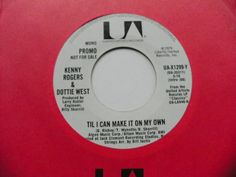 PROMO KENNY ROGERS & DOTTIE WEST 45 RPM CAN MAKE IT ON MY OWN DEMO UA-X1299-Y NM #TraditionalCountry