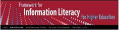 """TIME SENSITIVE: """"Draft for Comment: 'Framework for Information Literacy for Higher Education' -- Feedback on the first two parts will be accepted through 5pm Central on Tuesday, April 15, 2014, via the form at https://www.surveymonkey.com/s/JCVY3GW """" -- Click through for discussion questions if library groups wish to discuss the guidelines."""