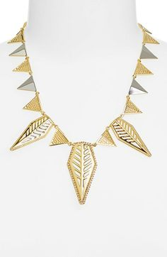 Rebecca Minkoff 'Sliced Diamonds' Frontal Necklace available at #Nordstrom