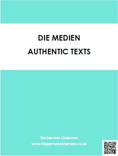 Booklet of authentic texts with reading comprehension questions on the topic of media. Good for GCSE German!