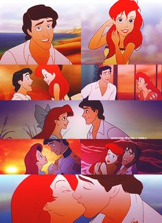 Disney Couples / Ariel and Eric / The Little mermaid Walt Disney, Disney Nerd, Disney Couples, Disney Girls, Disney Magic, Disney Princesses And Princes, Disney Princess Ariel, Princesa Disney, Disney And Dreamworks