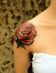 THIS LOOKS LIKE A COMIC BOOK DRAWING TO ME..LIKE OLD BATMAN OR SOMETHING! ♡ IT!! tattoo rose http://tattoo-ideas.us