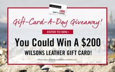 Wilsons Leather is giving away a $200 gift card each day through July 24th. Enter once each day for a chance to win! #win…