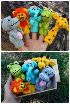First birthday gift ideas toddlers birthday gift animal gift for toddlers kids gift box africa finger puppets godson gifts Christmas in July Toddler Birthday Gifts, First Birthday Gifts, Toddler Gifts, Toddler Toys, Gifts For Kids, Cute Crochet, Crochet Toys, Crochet Baby, Diy Gifts Just Because