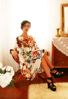 Alessia Tonolo Fashion Designer -printed silk dress-